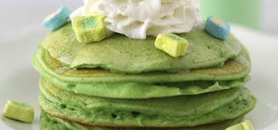 green pancakes st patrick's day