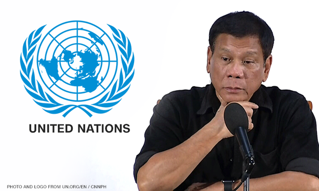 Duterte to UN: Take us out of your organization