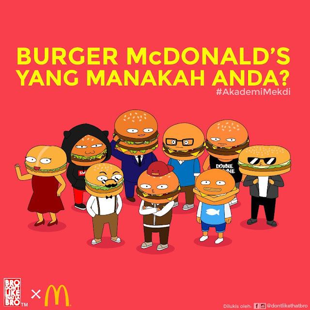 Ketahui Personaliti Diri Berdasarkan Jenis Burger Di McDonalds, Anda Pilih Yang Mana?