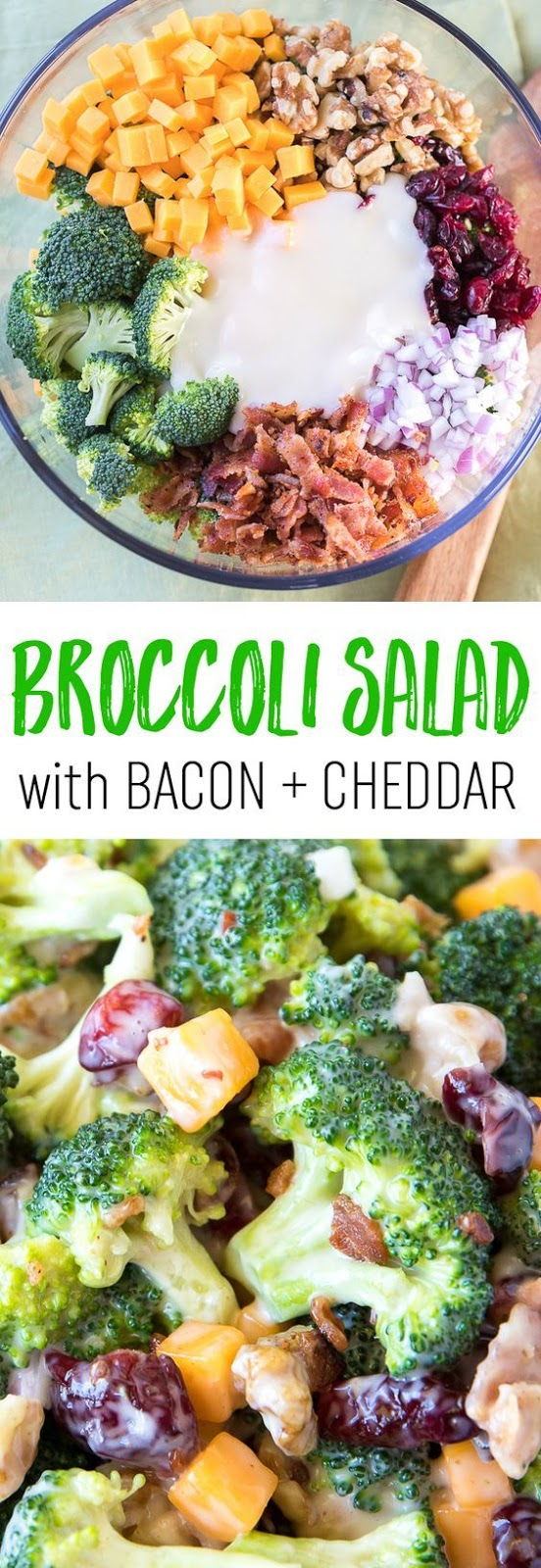 This sweet and delicious broccoli salad is easy to make and loaded with flavor and crunch.