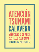 Concierto de Atención Tsunami y Calavera en Costello Club