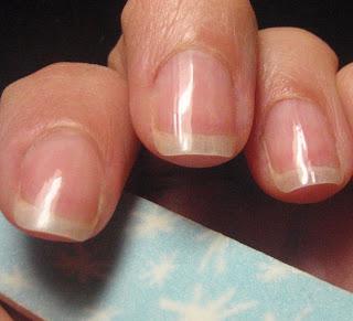 buffed nails