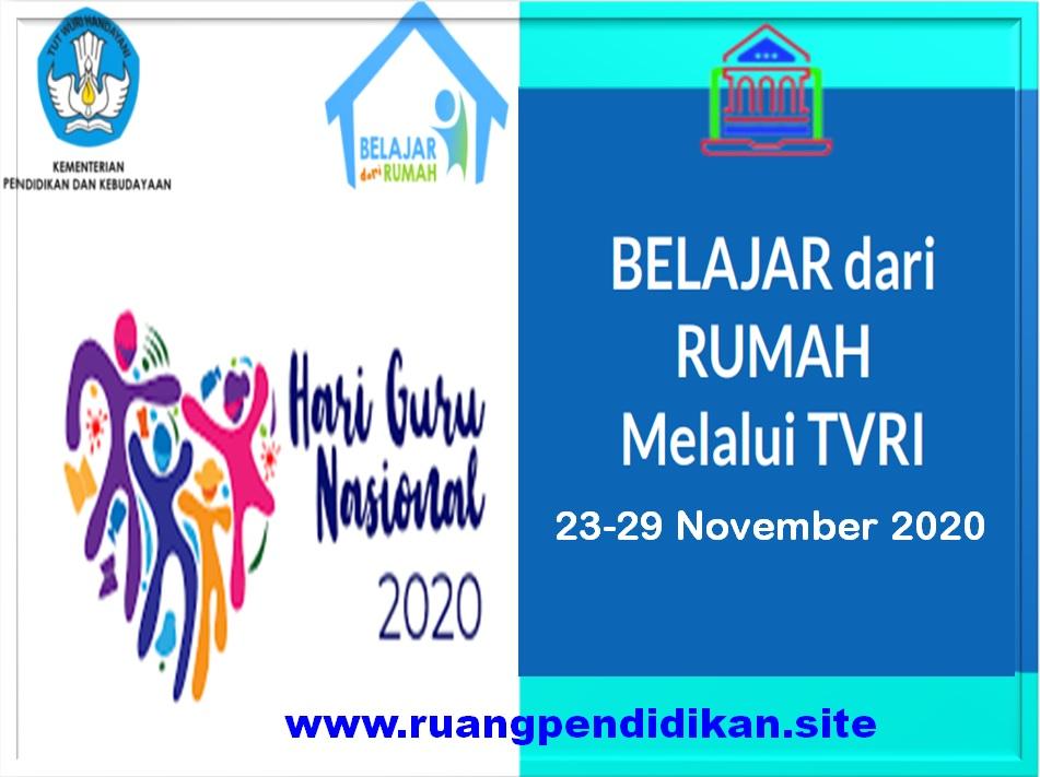 Jadwal BDR Di TVRI  Tanggal 23, 24, 25, 26, 27 November