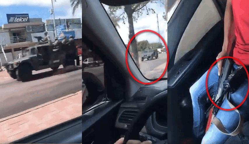 """""""Raza razita ... estamos pendiente"""", Circula VIDEO mostrando como operan los """"Halcones"""" al ver la presencia del Ejercito en calles de Culiacán, Sinaloa"""