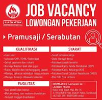Lowongan Pekerjaan di Lakwok Resto Surabaya September 2021