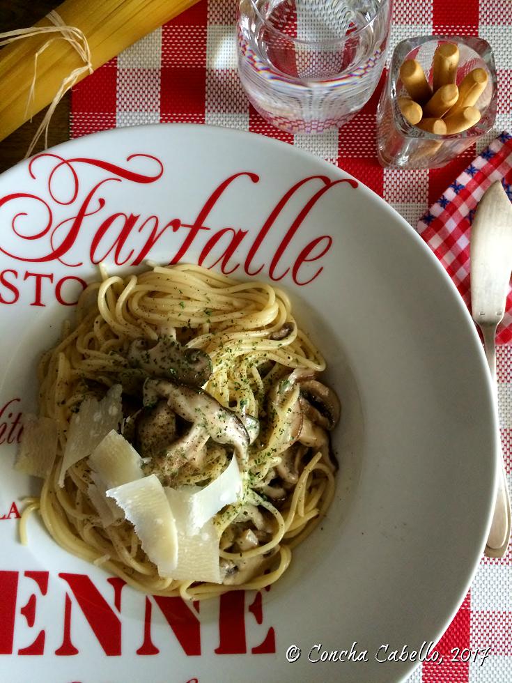espaguetis-shiitake-champiñón-setas