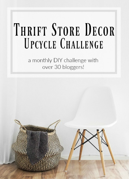 thrift store upcycle decor challenge