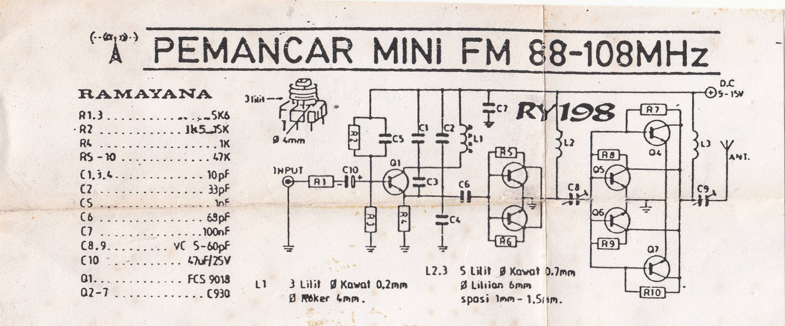Stereo Fm Radio Receiver Circuit Diagram Wiring Diagrams For Dummies Audio Transmitter 300 Mhz Schematic Monster Am Shortwave
