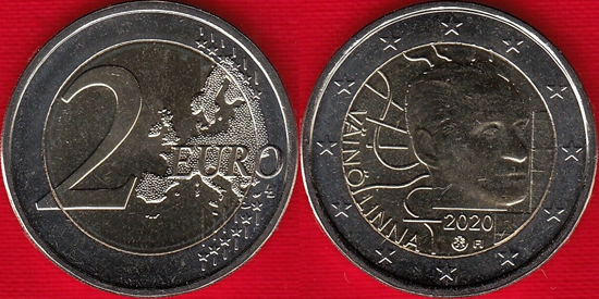 Finland 2 euro 2020 - Väinö Linna