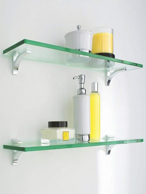 Simple attractive glass shelf