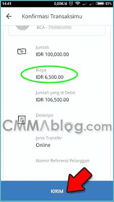 cara transfer lewat mobile banking mandiri