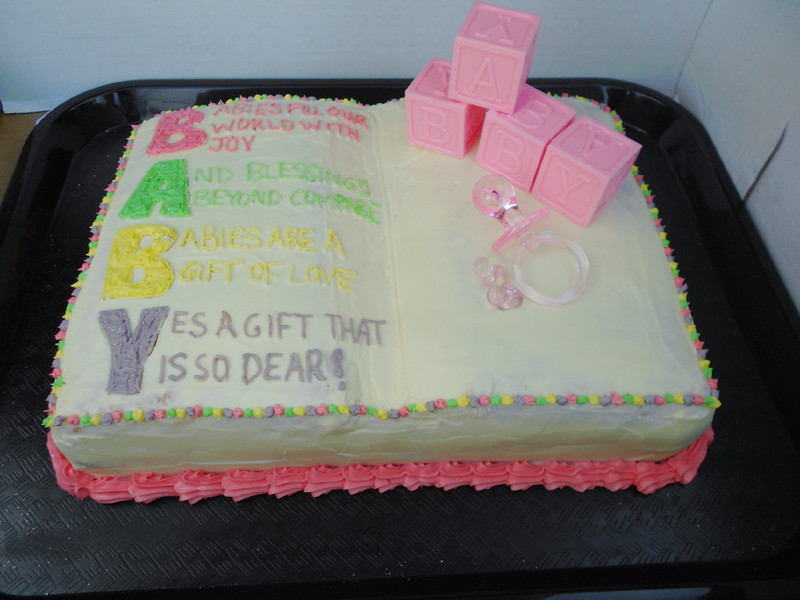 Baby Shower Open Book Cake Confessions Of A Confectionista