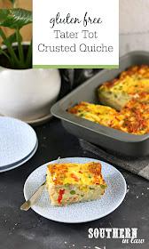 Tater Tot Crusted Quiche Recipe - Breakfast casserole recipe, healthy, gluten free, high protein, hash brown quiche, potato gems