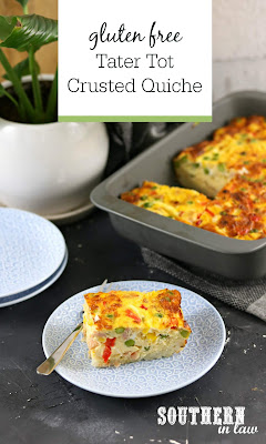 Gluten Free Tater Tot Crusted Quiche Recipe