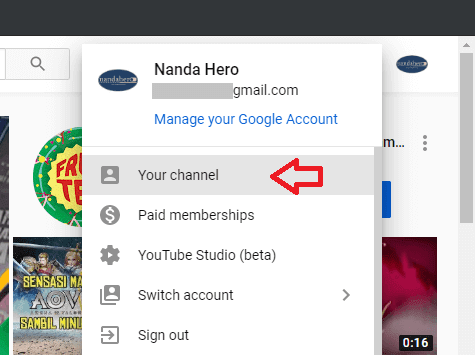 cara membuat link di channel youtube