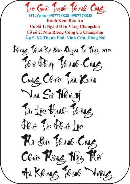 Download fonts Thư Pháp Thành Công. Fonts chữ Độc Quyền