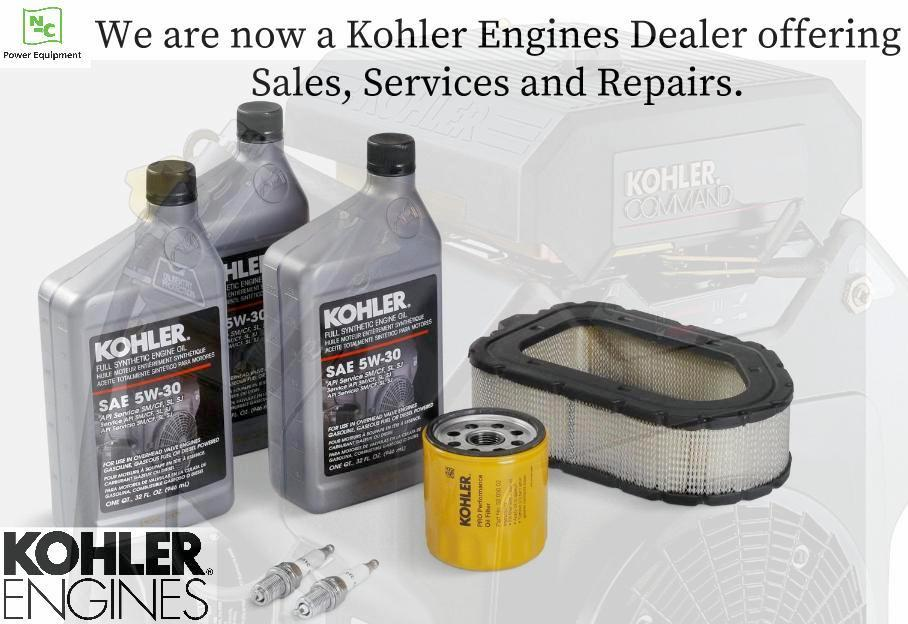 NC Power Equipment, LLC: We are now a Kohler Engines Dealer.
