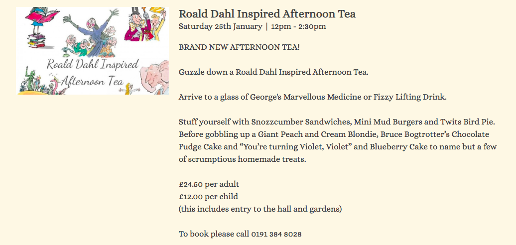 20+ Places you can book Children's Afternoon Tea in North East England - crook hall durham