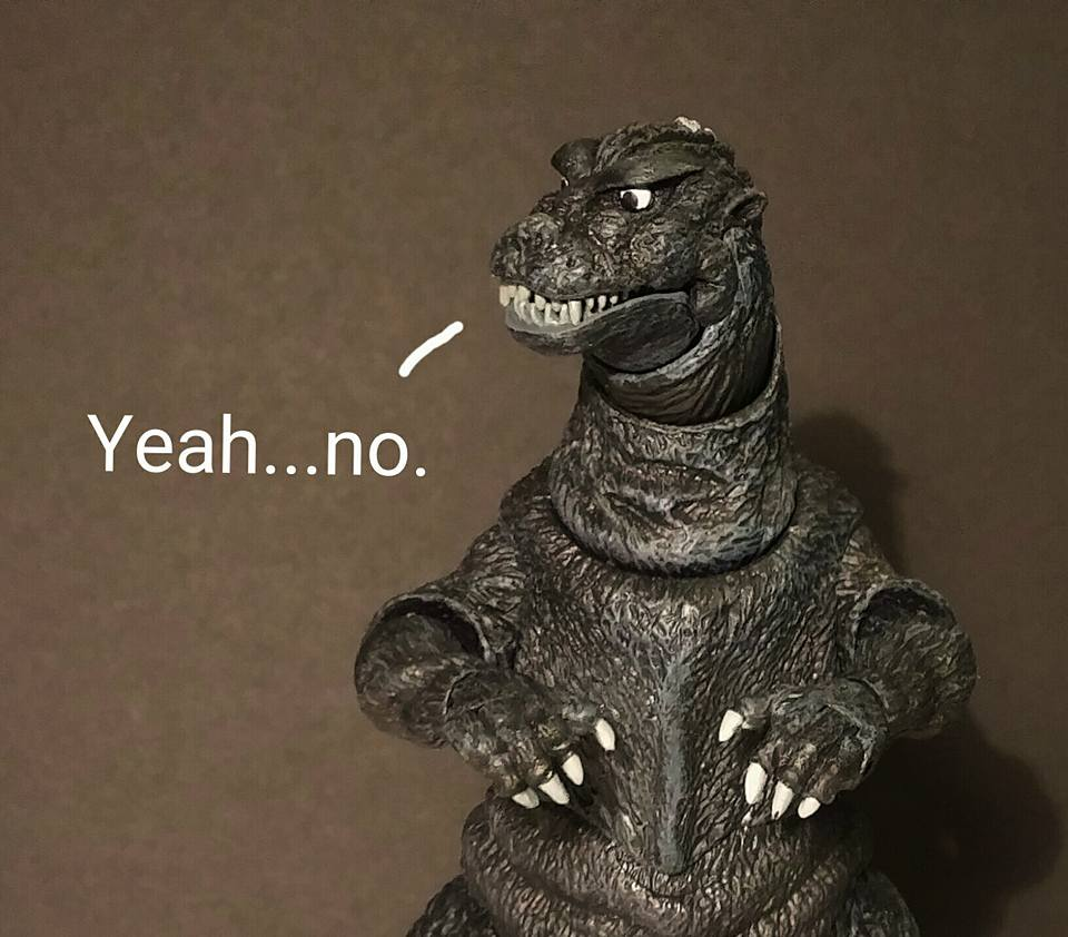 Image result for Yeah no godzilla