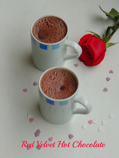 Red velvet hot chocolate, Hot red velvet chocolate