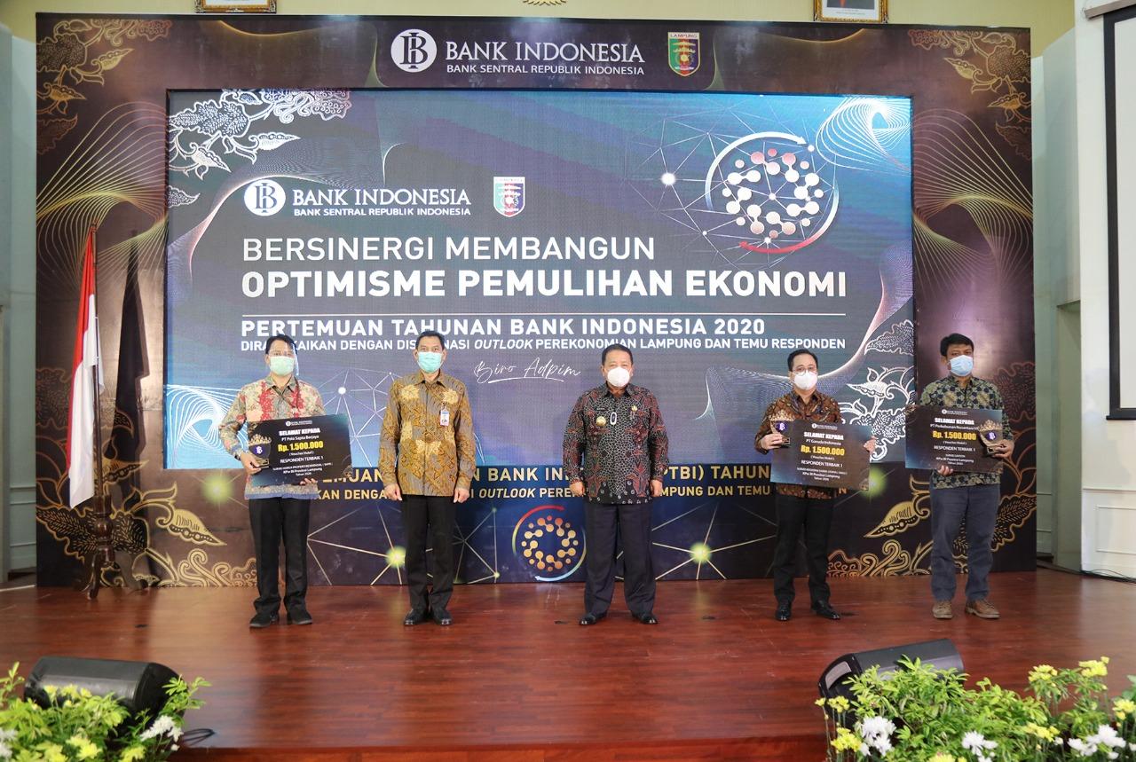 Jadi Keynote Speaker Pertemuan Tahunan BI 2020, Gubernur Arinal Paparkan Keberhasilan KPB dan Sosialisasi Pergub Adaptasi Kebiasaan Baru kepada Presiden