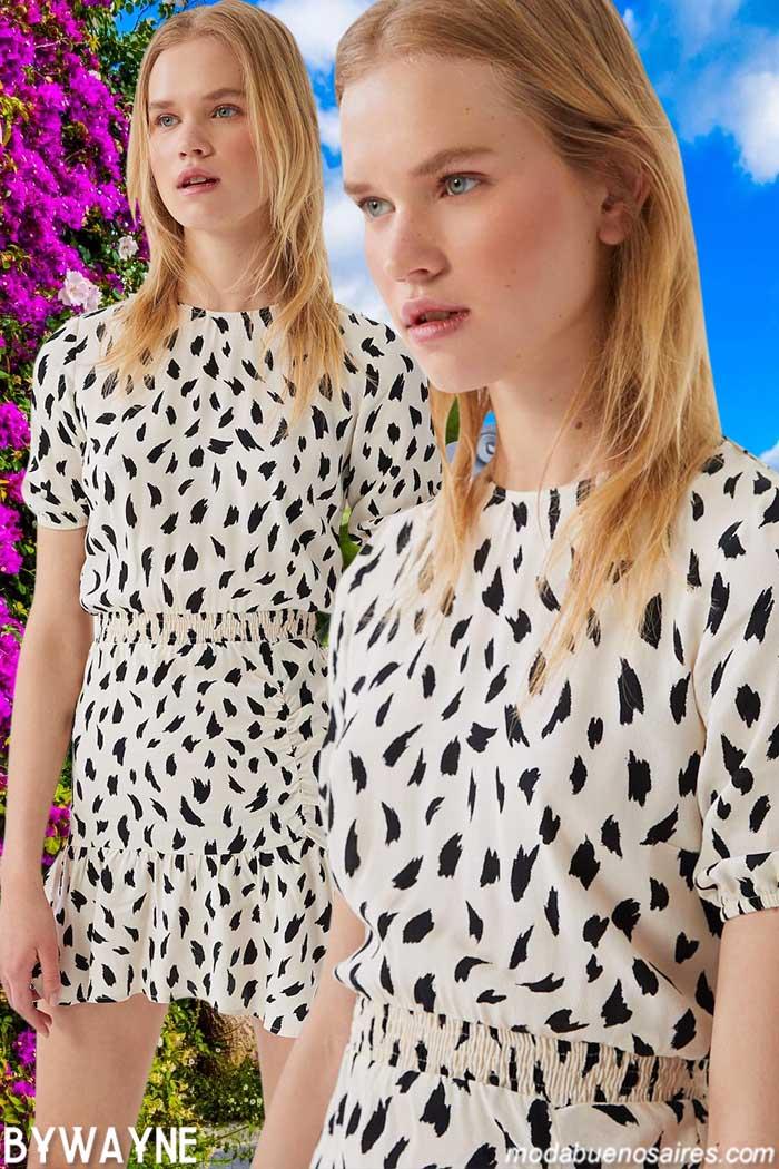 vestidos cortos casuales juveniles primavera verano 2021