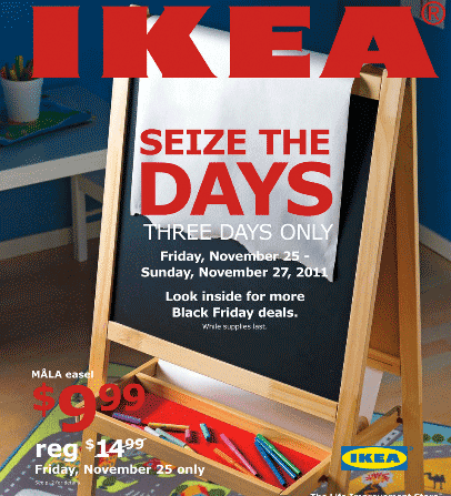 Ikea black friday 2011 ad for Ikea cyber monday 2016
