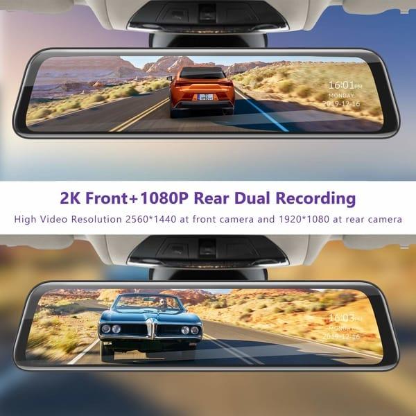 Review TOGUARD CE70 2K Mirror Backup Camera
