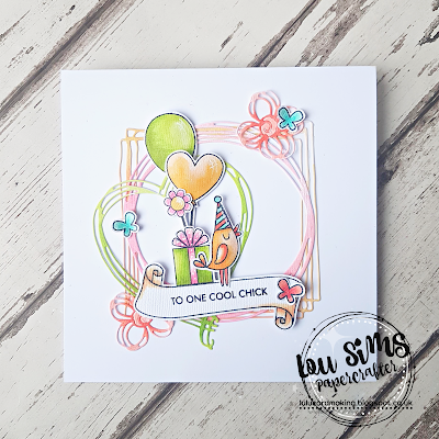 Tonic Studios Celebrate Life Garden Party clear stamps by Lou Sims
