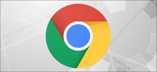 شعار Google Chrome على خلفية رمادية مع ترس