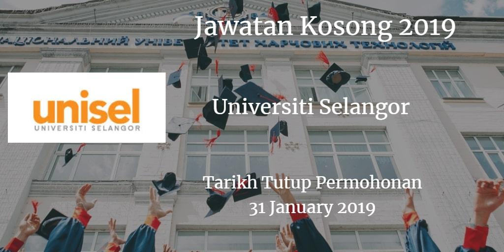Jawatan Kosong UNISEL 31 January 2019