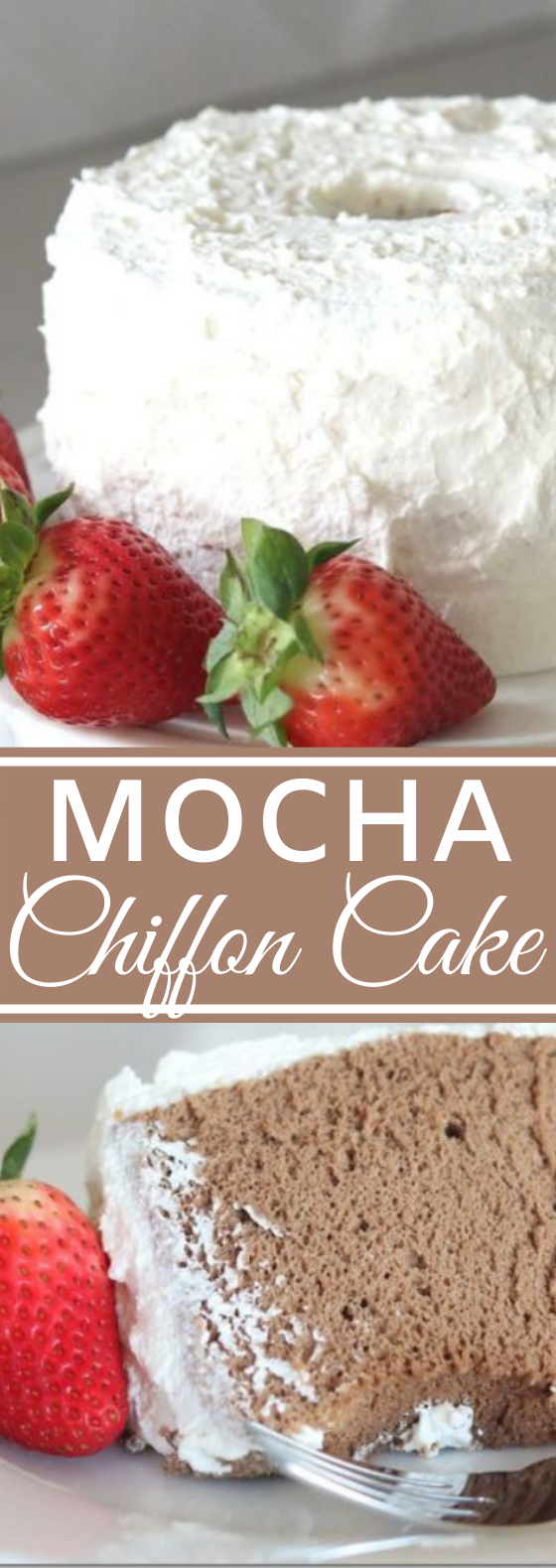 Mocha Chiffon Cake #desserts #cake #recipes #easy #birthdaycake
