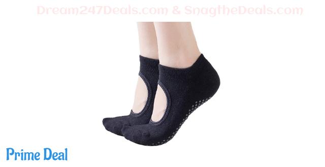 50%OFF  Women's Cushioned Non-Slip Grips Yoga Pilates Ballet Barre Socks