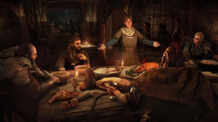 Assassins Creed Valhalla, Viking, Dinner, 4K, #7.2247