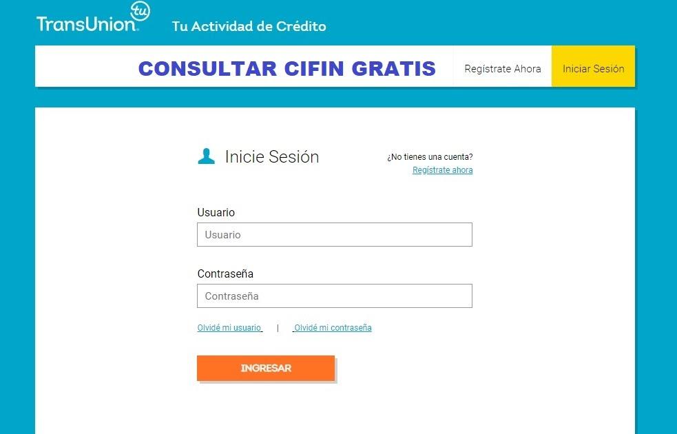 Consultar Cifin Gratis Transunion