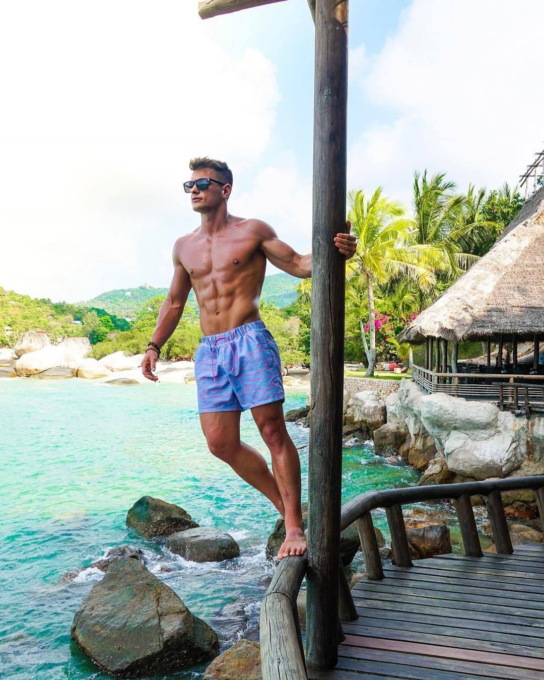 fit-sexy-barechest-guys-sunglasses-fun-summer-vacation-brendan-dooling