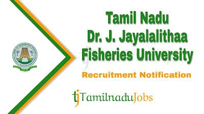 TNJFU Recruitment notification 2019, govt jobs for 10th pass, govt jobs for 12th pass, govt jobs for graduates, tn govt jobs