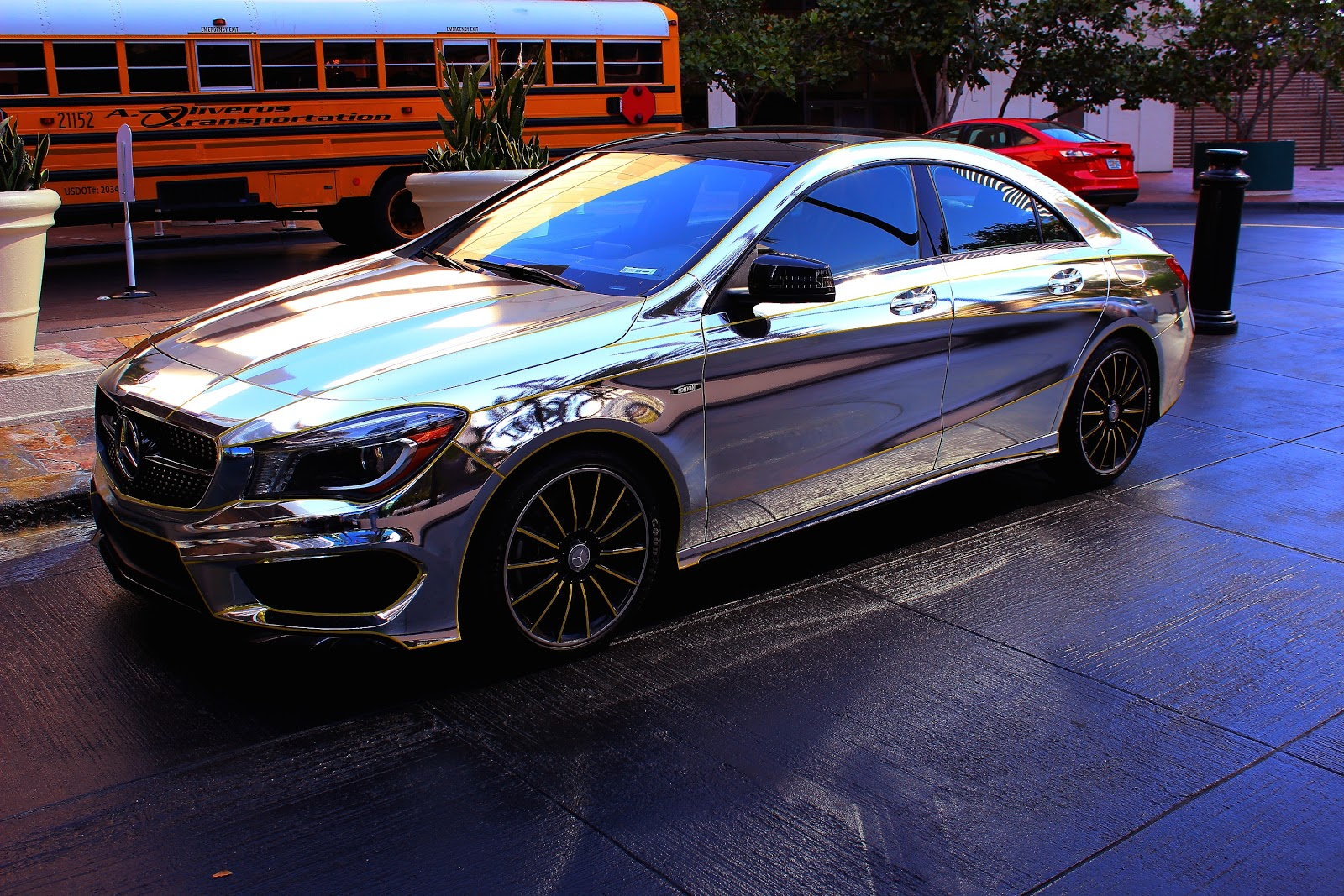 car-chrome-mercedes-polish-images