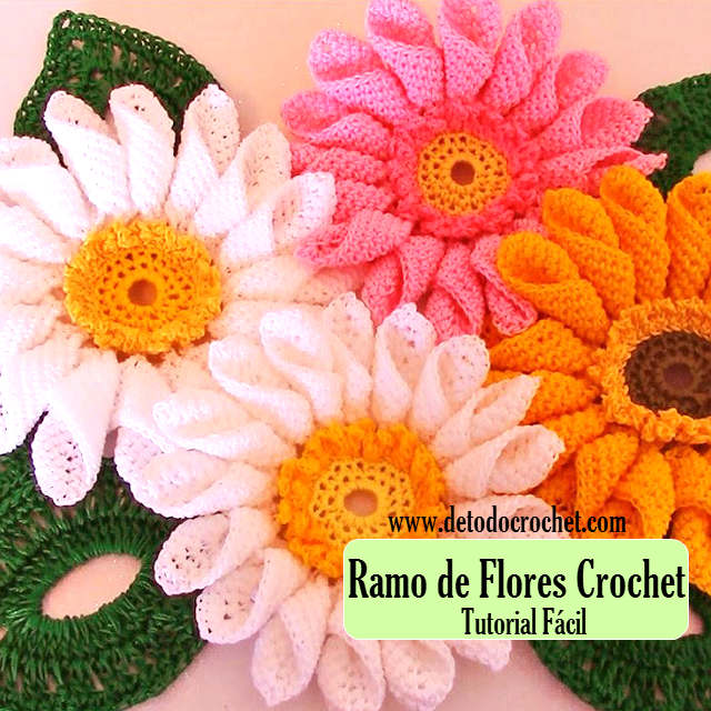how crochet daisy flowers