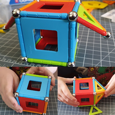 Geomag recycled plastic STEM construction toy different cubes