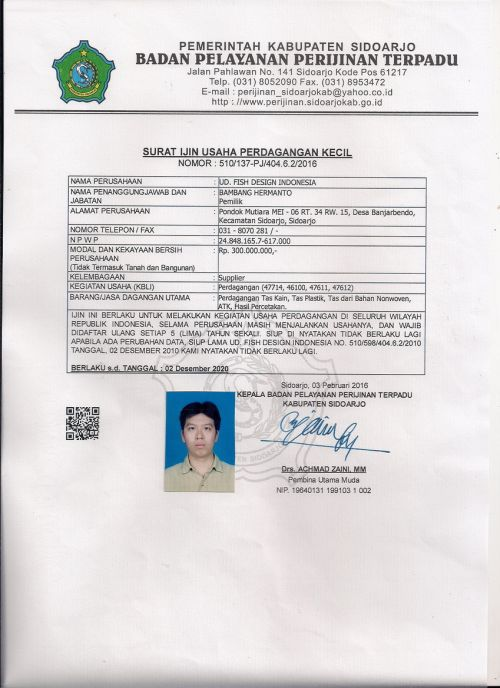 SIUP Tas Spunbond Surabaya