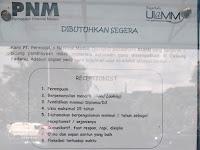 Lowongan Kerja PNM Cabang Padang : RECEPTIONIST !!
