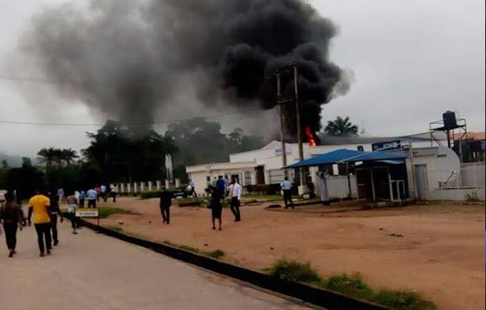 BREAKING: Fire guts Access Bank in Ondo State