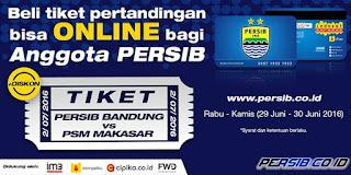 Tiket Pertandingan Kandang Persib Bisa Dipesan Online