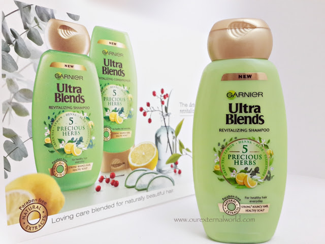 Garnier Ultra Blends Shampoos - Revitalising Shampoo With 5 Precious Herbs