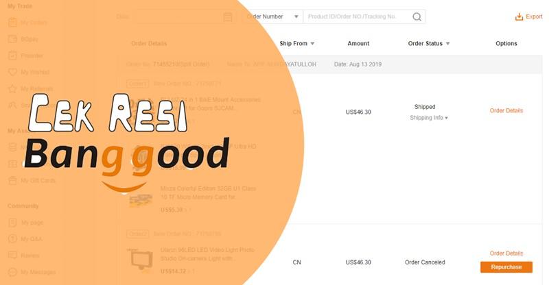 Cara Tracking Resi Banggood Paling Akurat 2019 - banggood.com