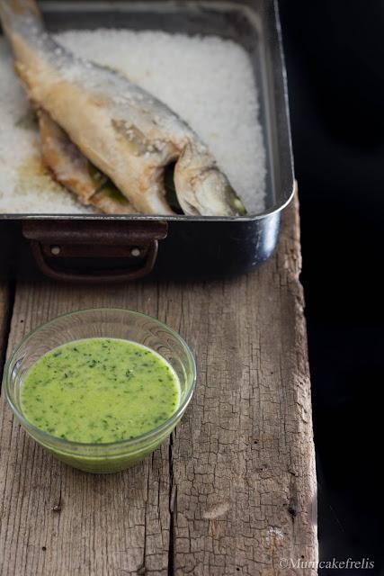 ricetta emulsione verde per pesce