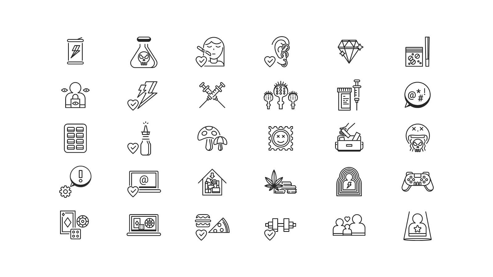 مجموعة أيقونات لتصميم عروض بوربوينت