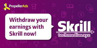 PropellerAds supports Skrill payout option