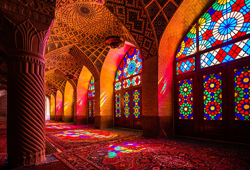 Мечеть Насир оль-Мольк в Ширазе, Иран. Фото в блоге itdalee.ru